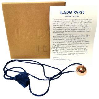 Ilado Paris plated rose-gold sphere-pendant necklace
