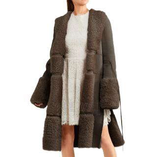 Alexander McQueen reversible shearling jacket