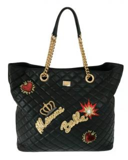Dolce & Gabbana Mama Bella-applique quilted-leather tote bag