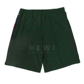 Gucci Green Web-striped Track Shorts