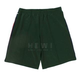 Gucci Green Web-striped Track Shorts