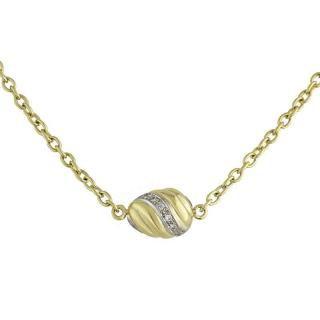 Cartier 18k Yellow Gold Diamond Set Necklace