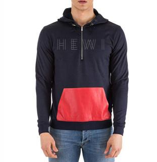 Fendi Navy Sweatshirt with Red Contrast Pocket