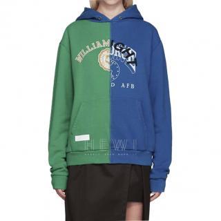 Off White x Midnight Studios bi-colour hooded sweatshirt