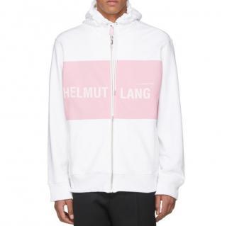 Helmut Lang White & Pink Shayne Oliver Campaign Print Hoodie