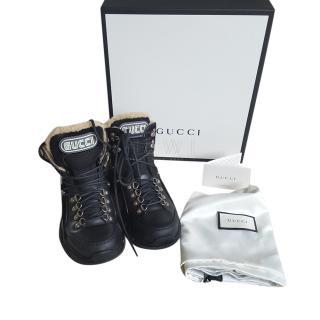 Gucci Flashtreck Logo Appliqued Boots