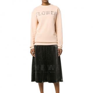 Christopher Kane Pink Flower Sweatshirt