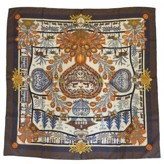 Hermes D'coupages by Anne Rosat silk scarf