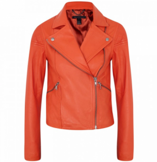 Marc by Marc Jacobs Red Leather Jett Jacket