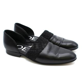 Loewe Flex D'Orsay Braided Leather Loafers