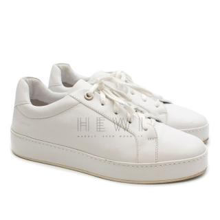Loro Piana White Leather trainers