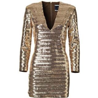 Malene Birger Acacin gold sequin dress