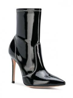 Gianvito Rossi Craze black patent leather ankle boots