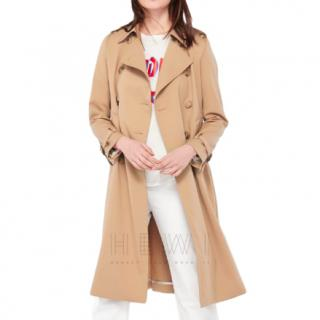 Sandro Beige Wool-Blend Trench Coat