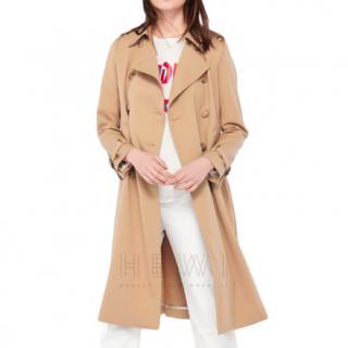 Sandro Beige Wool-Blend Trench Coat