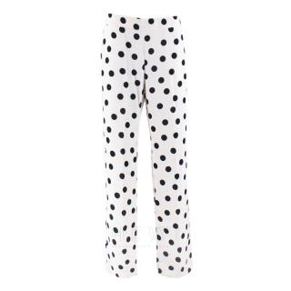 CH Carolina Herrera Polka-Dot Print Straight-Leg Trousers