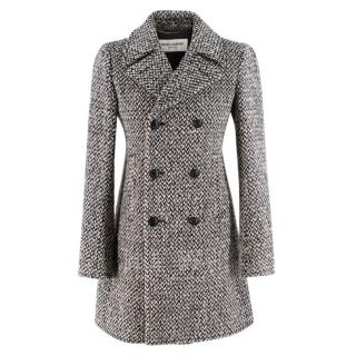 Saint Laurent double breasted tweed coat