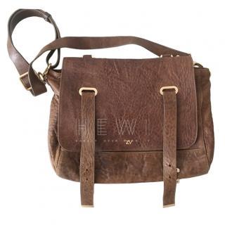 Zadig & Voltaire Brown Leather Satchel