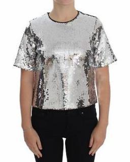 Dolce & Gabbana silver sequin top