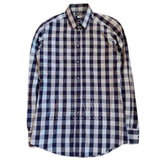 Dolce & Gabbana Gold blue check Johnny shirt