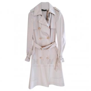 Anna Molinari beige belted trench coat