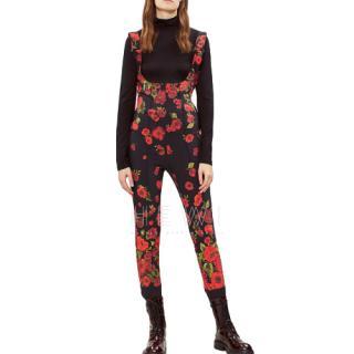 Moncler floral-print apr�s-ski jumpsuit - Current Season