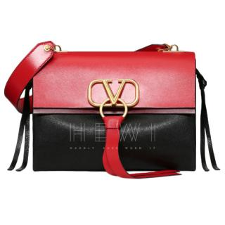 Valentino Medium V-ring Smooth Calfskin Shoulder Bag - New Season