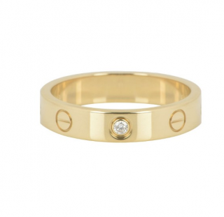 Cartier 18k Yellow Gold Diamond Wedding Love Ring