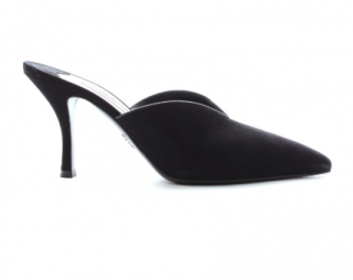Prada black suede point-toe mules