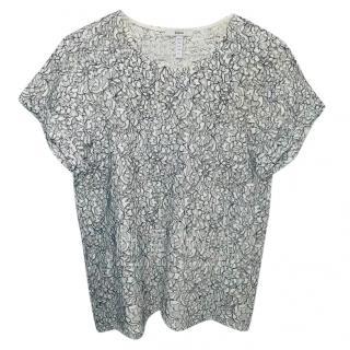 Erdem white crochet lace top