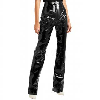 16Arlington High-Waisted Black Vinyl Trousers - Sold Out