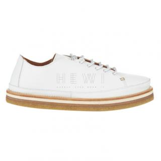 Sportmax Tranto white leather low-top trainers