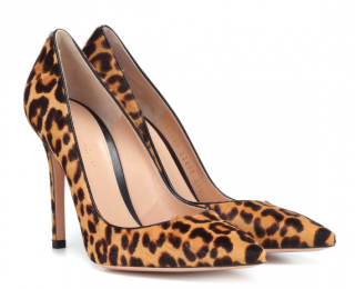 Gianvito Rossi Gianvito leopard-print calf hair pumps