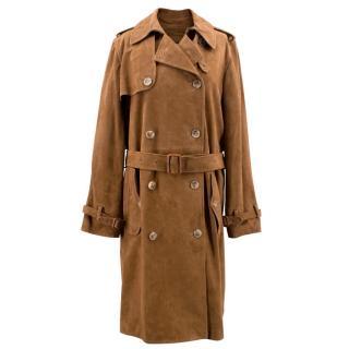 Polo Ralph Lauren brown suede trench coat