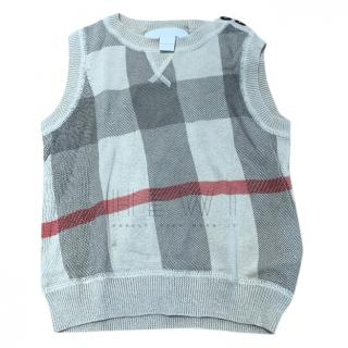 Burberry Baby 6-9 months nova check vest