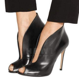 Gianvito Rossi Vamp Open-Toe leather Ankle Boots