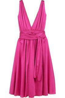 Jay Ahr pink plunge cocktail dress