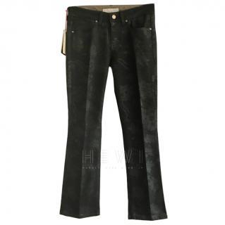 Stella McCartney wet look skinny kick jeans