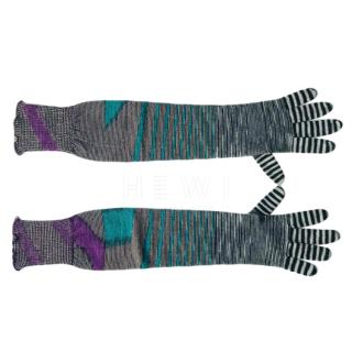 Missoni long wool gloves