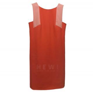 Versace Collection pink colour block dress