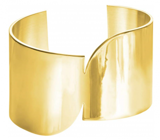 Uncommon Matters Gold Asymmetric Cuff