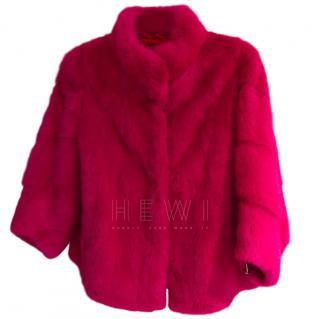Bespoke Pink Mink Fur Jacket