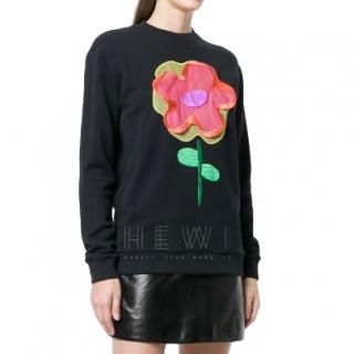 Christopher Kane cartoon floral sweatshirt