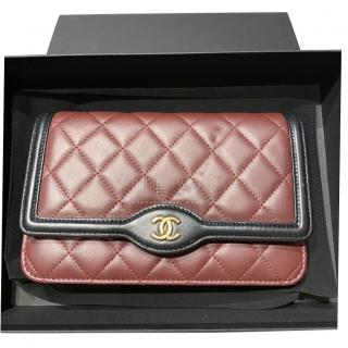 Chanel burgundy quilted wallet on chain