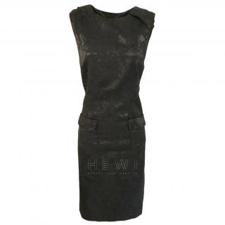 Clements Ribeiro black jacquard sleeveless dress