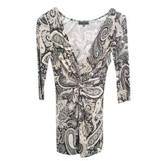 Etro paisley-print ruched-waist dress