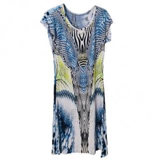 St Lova multi-print dress