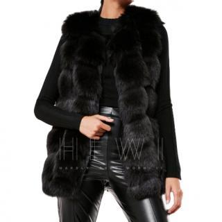 Nevada Love black fur gilet