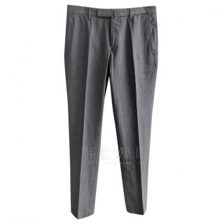 Incotex grey slim-fit chino trousers