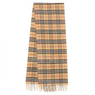 Burberry House Check cashmere shawl